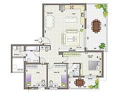 דירת 4 חדרים | קומות 10-12