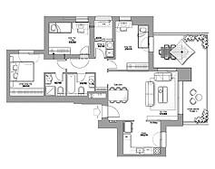 מיני פנטהאוז 4 חד' | דגם 4C