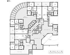 תוכנית קומה 1 - בניין דרומי