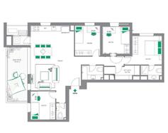 דירת 5 חדרים | דגם D1 - צפון מערב