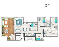 דירת 6 חדרים דגם C | מגרש 119
