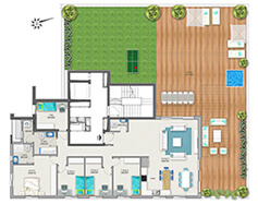 דירת 6 חדרים דגם D - פנטהאוז | מגרש 119