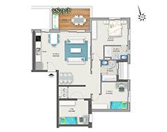 דירת 4 חדרים דגם B | מגרש 120