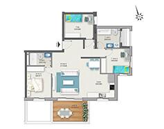 דירת 4 חדרים דגם C | מגרש 120