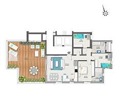 דירת 4 חדרים דגם F | מגרש 120
