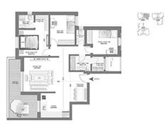 דירת 4 חדרים - דגם A