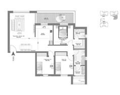 דירת 4 חדרים - דגם E