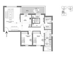 דירת 4 חדרים - דגם E1