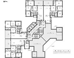 תוכנית קומה 2 - בניין דרומי
