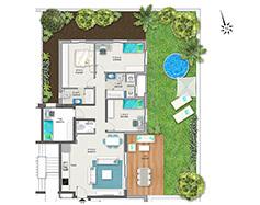 דירת-גן 5 חדרים דגם A1 Gan | מגרש 119