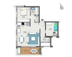 דירת 3 חדרים דגם B | מגרש 119