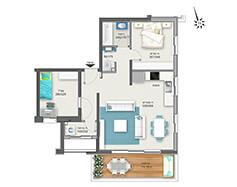 דירת 3 חדרים דגם B1 | מגרש 119