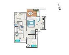 דירת 4 חדרים דגם A | מגרש 120