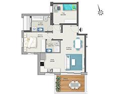 דירת 3 חדרים דגם D | מגרש 120